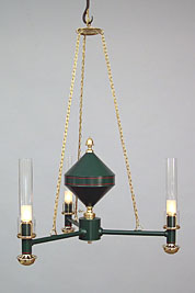 Argand Three-burner Chandelier
